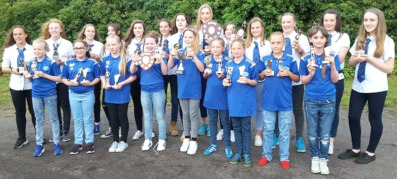 Trophies for Aycliffe Girls Teams