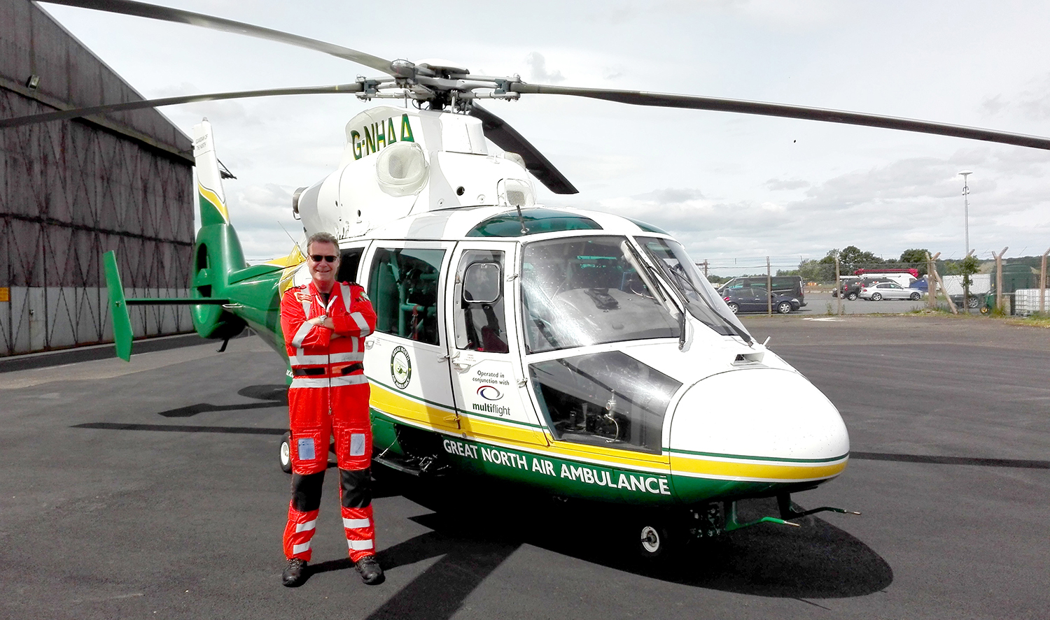 Aycliffe School Governor is the Air Ambulance Chief Pilot