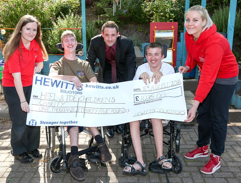 Aycliffe Legal Team Help Heel & Toe Charity