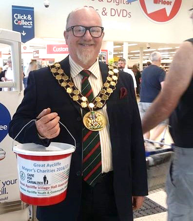 Town Mayor's Charity Collection in Tesco