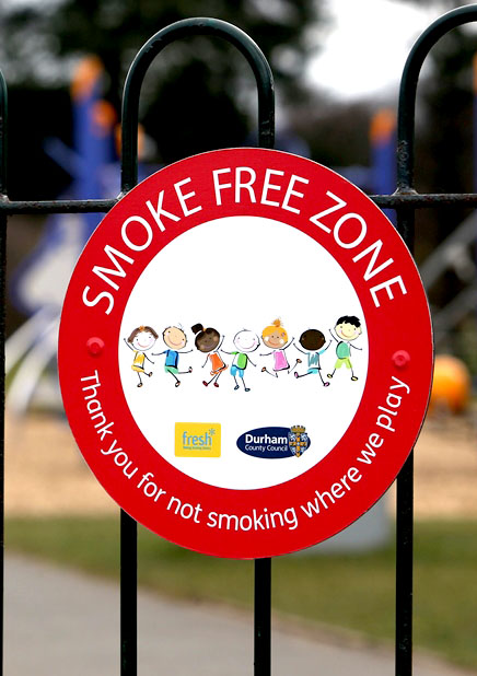 Smokers Reminded Play Areas are Smoke Free