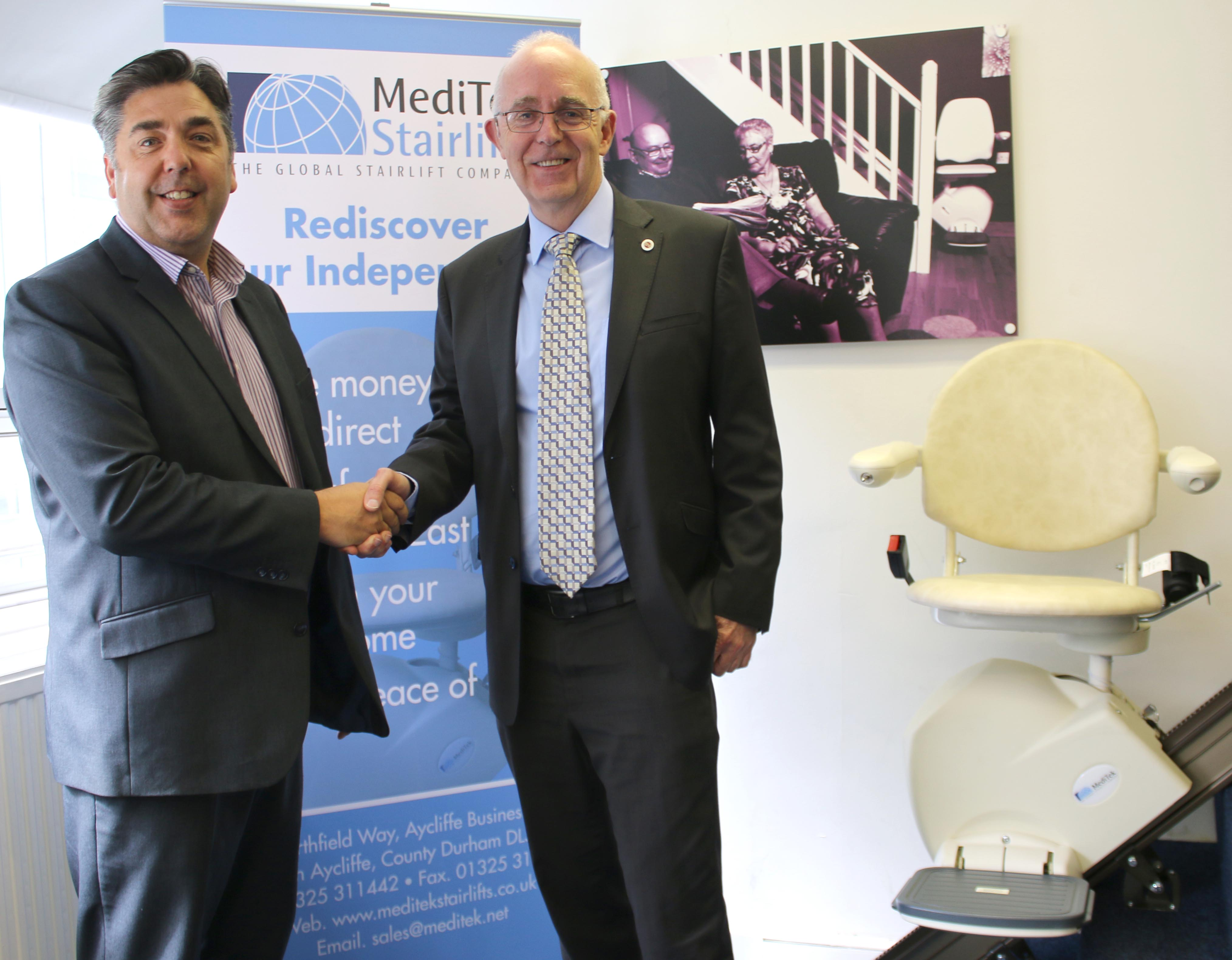 MEDITEK Stairlifts at Aycliffe Keep Moving up