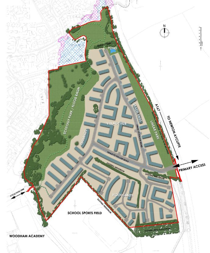 Proposed 430 House Development at Woodham
