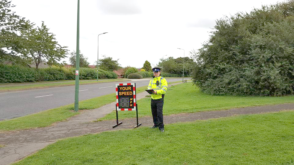 Speedwatch in Use Throughout Aycliffe