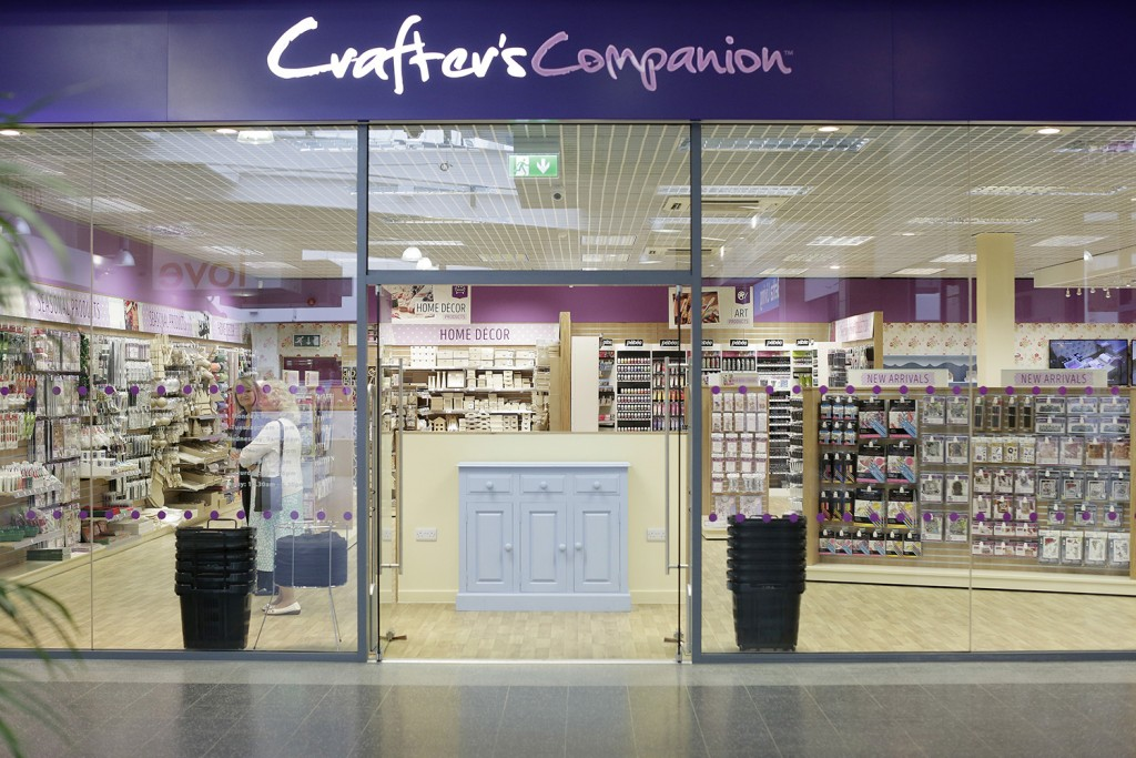 (Photo shoot 0916-018). Soft opening of Crafters Companion store in Chesterfield, Derbyshire