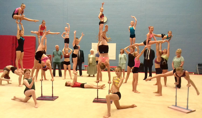 Acrobatic Gymnastics Show in Aycliffe