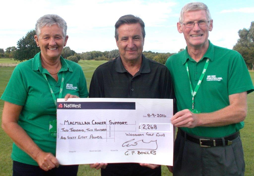 Golf Club Donate £2,268 to Cancer Support