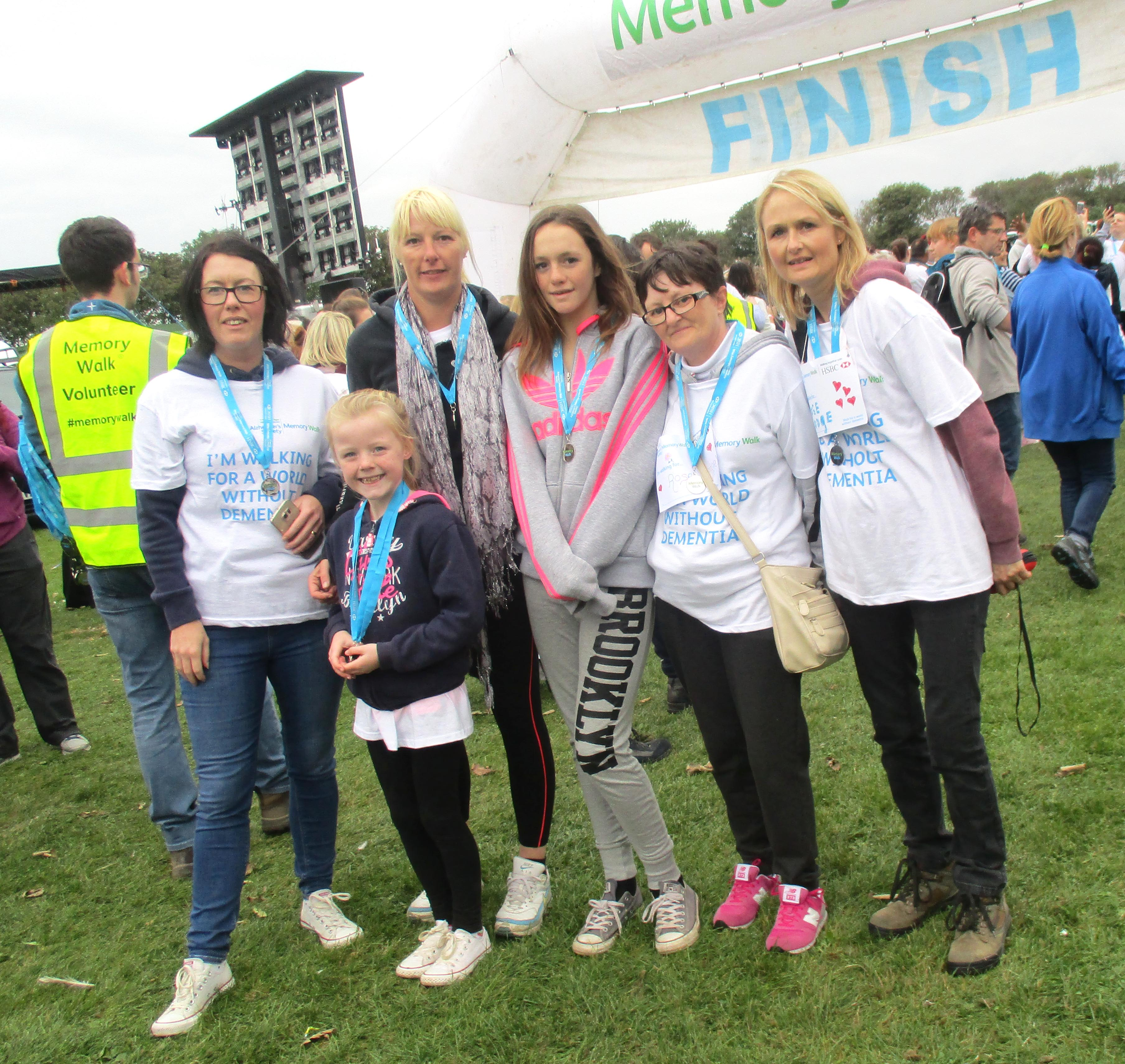 Aycliffe Care Home Staff on Memory Walk