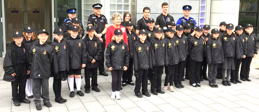 Aycliffe Mini Police Form Royal Guard of Honour
