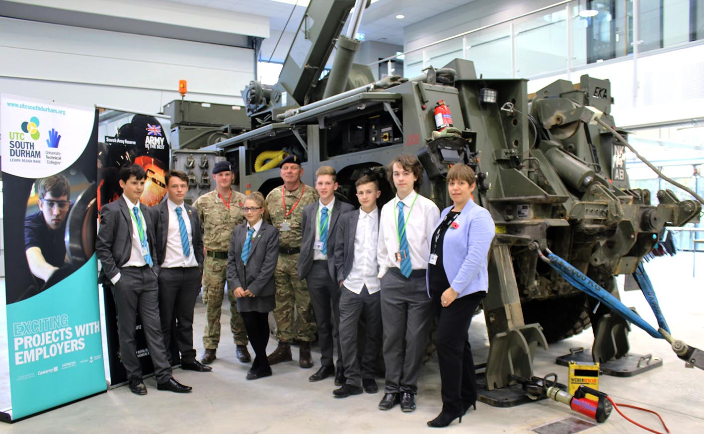 Aycliffe UTC Students View Career Options