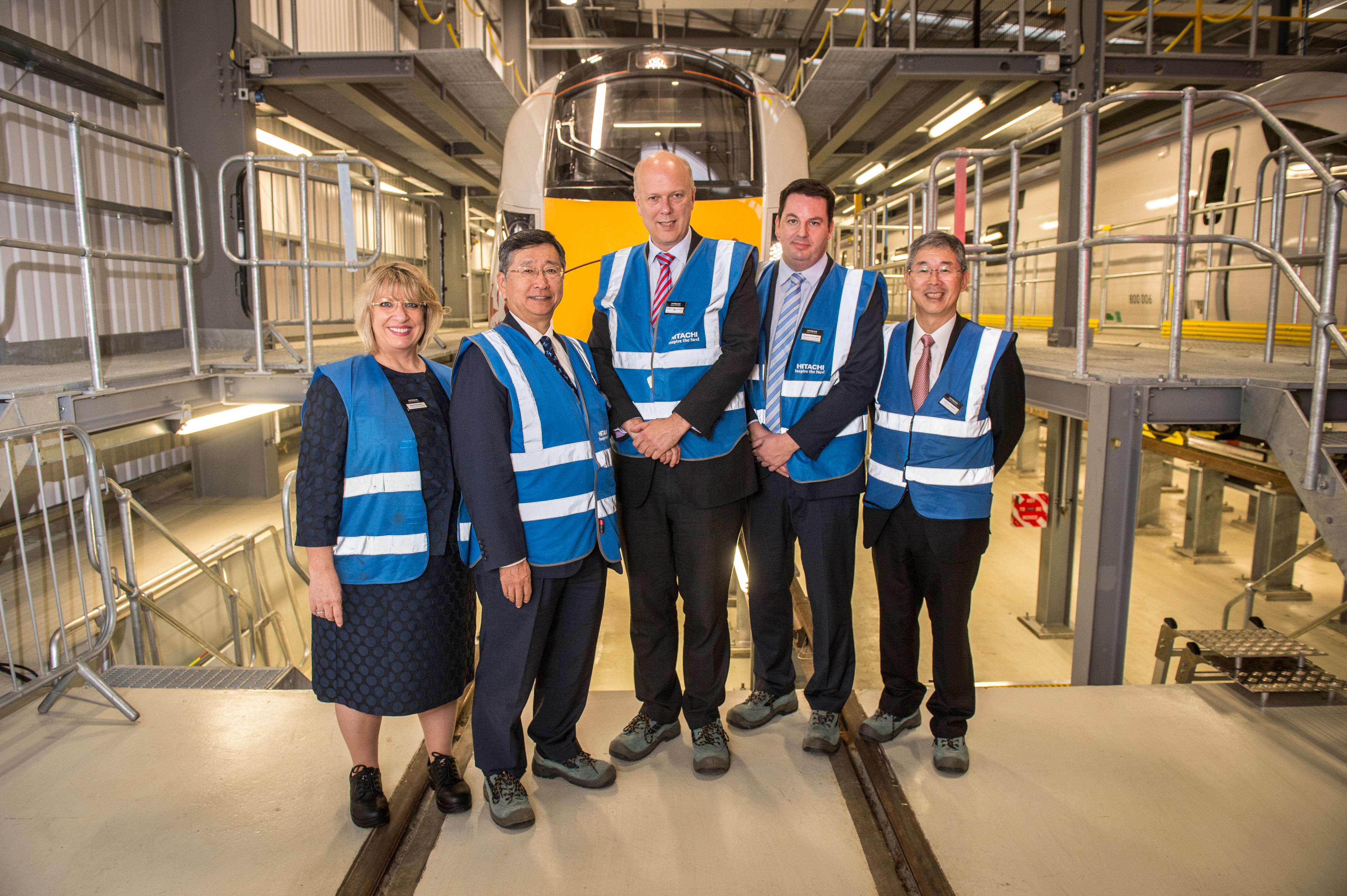 Hitachi Unveils First UK Built Intercity Express Train