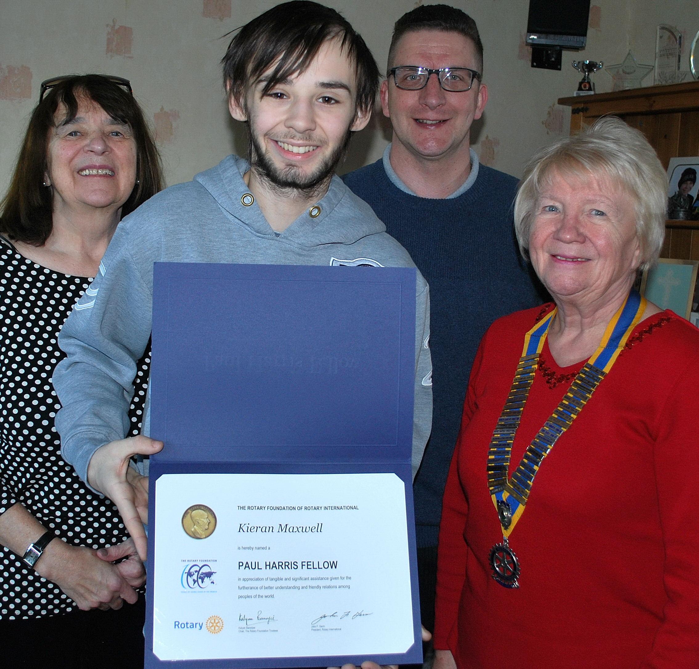 Top Rotary Honour for Courageous Kieran