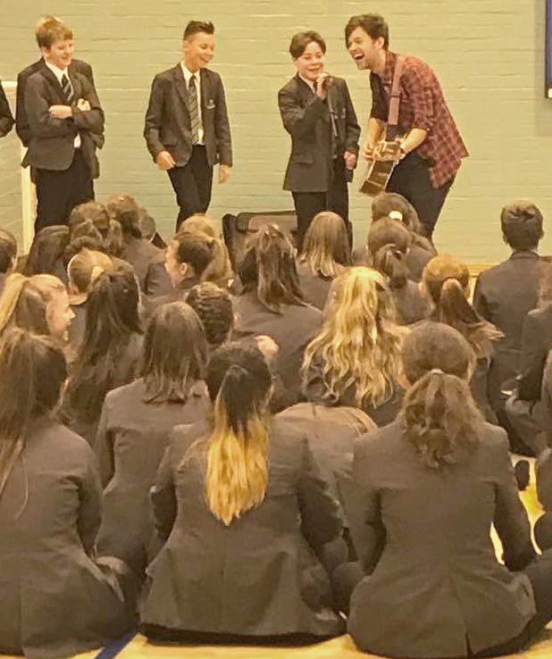 Pop Star Visits Woodham