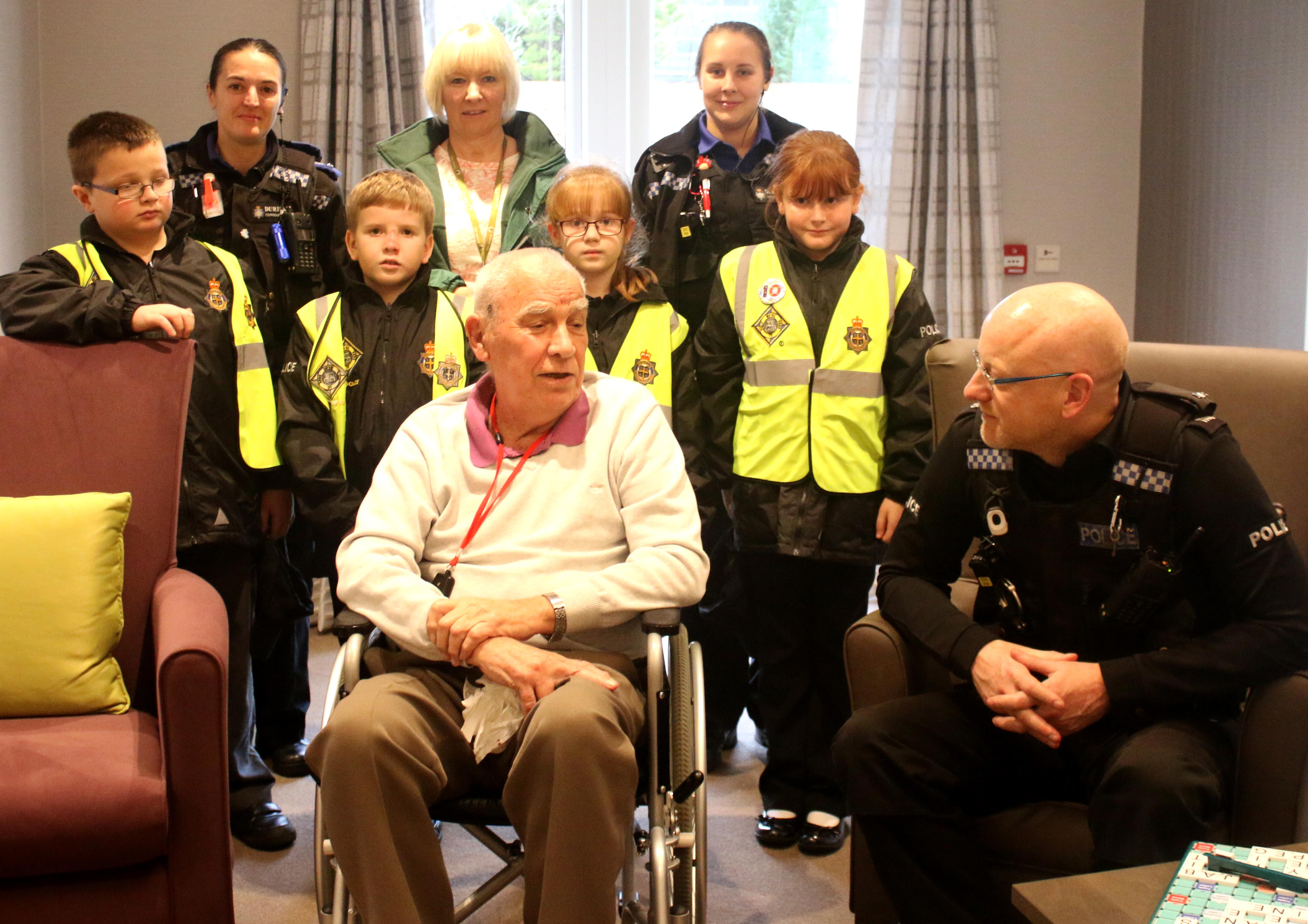 Retired Policeman Meets Mini Police on Site of Former Police Station