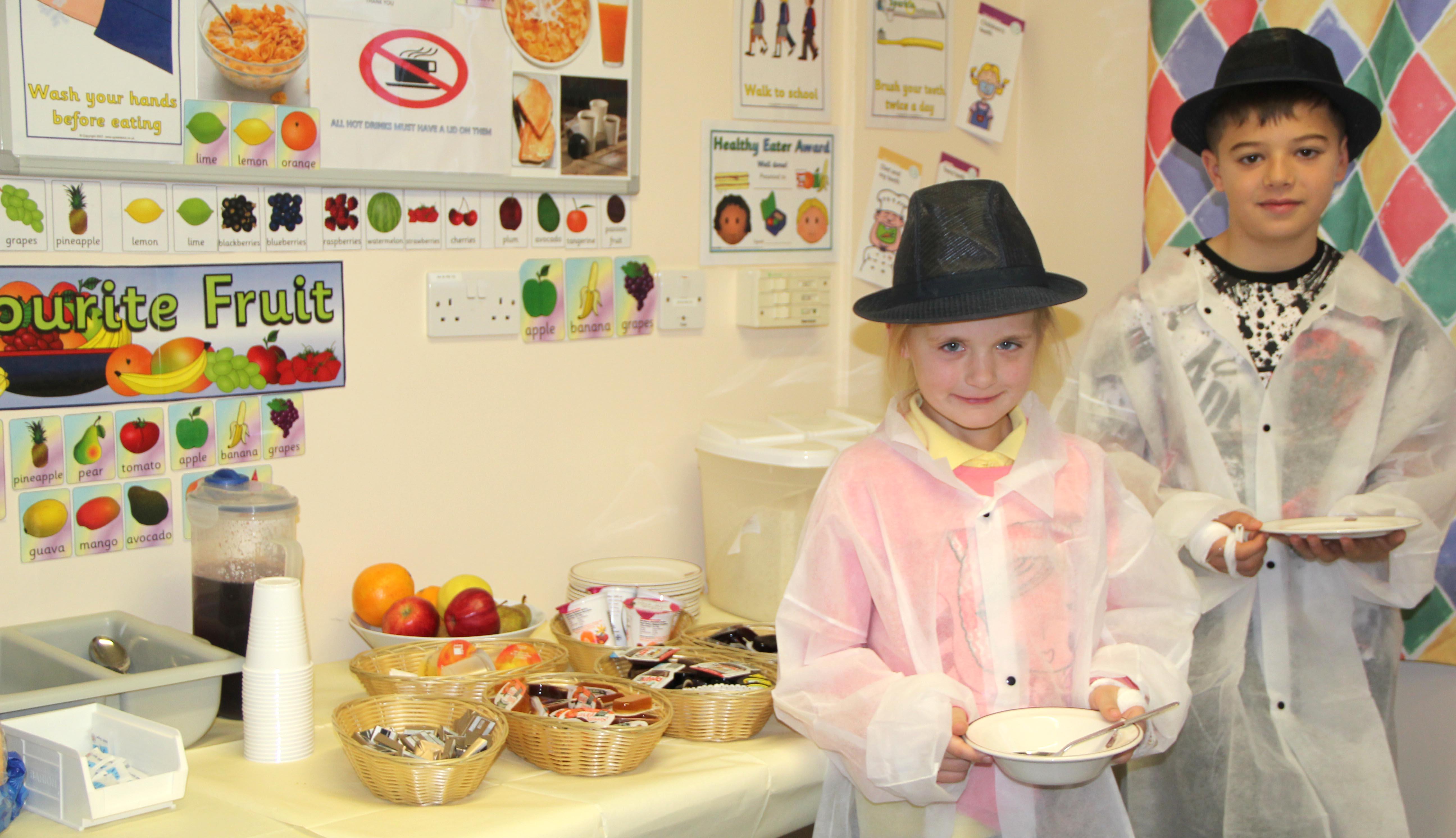 Buffet-style Breakfast for Children's Ward