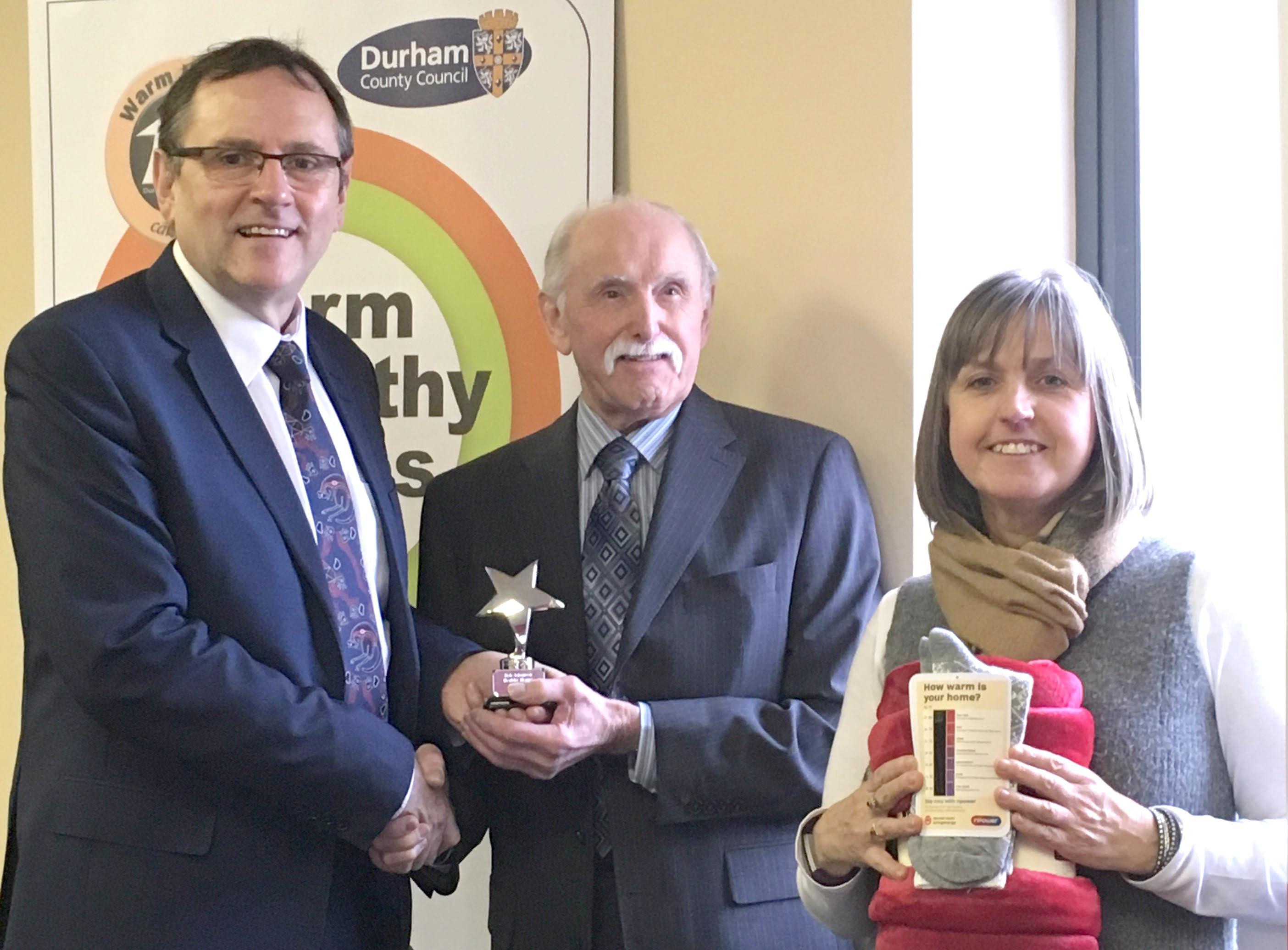MP Presents Warm Homes Champion Award to AGE UK
