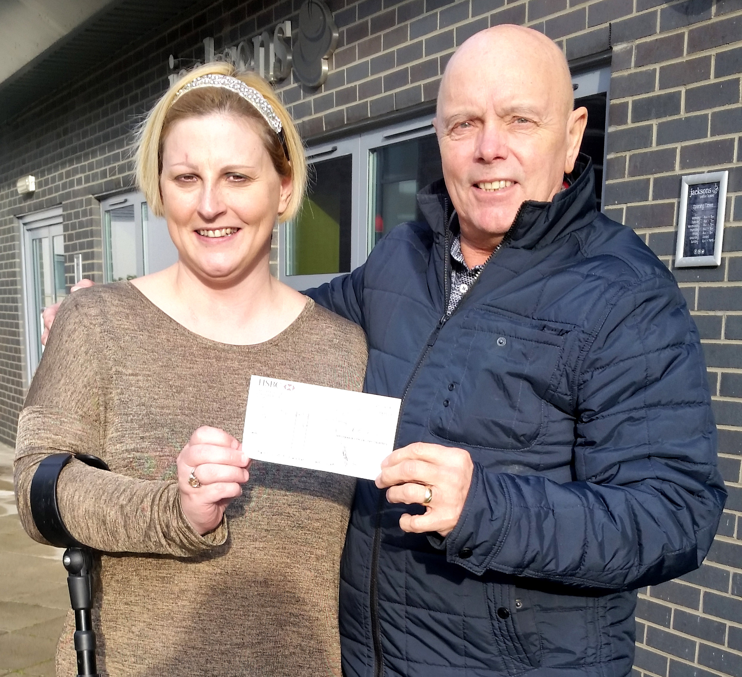 £500 for Town's Cancer Support Group