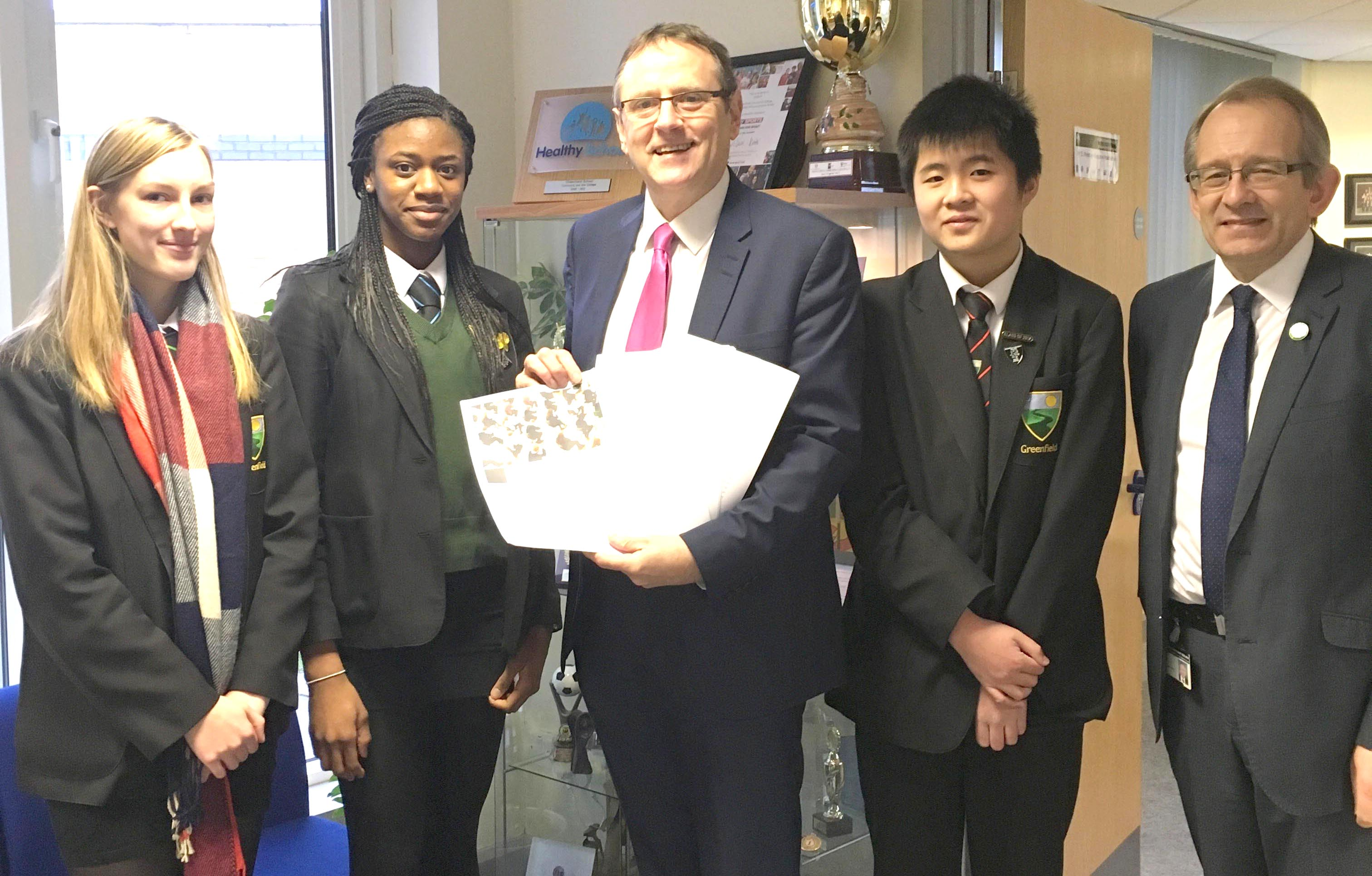 Aycliffe Students' Petition Handed in to Parliament