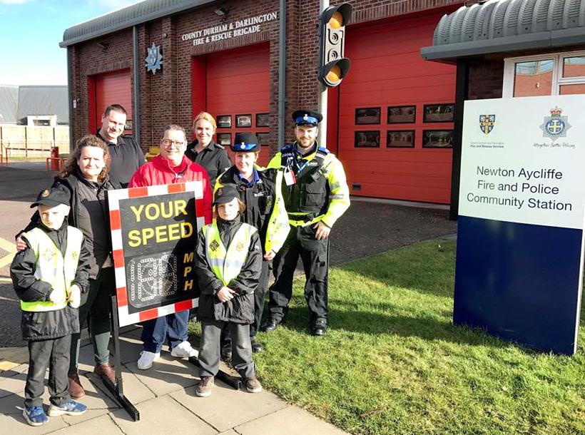 Mini Police Visit Fire Station