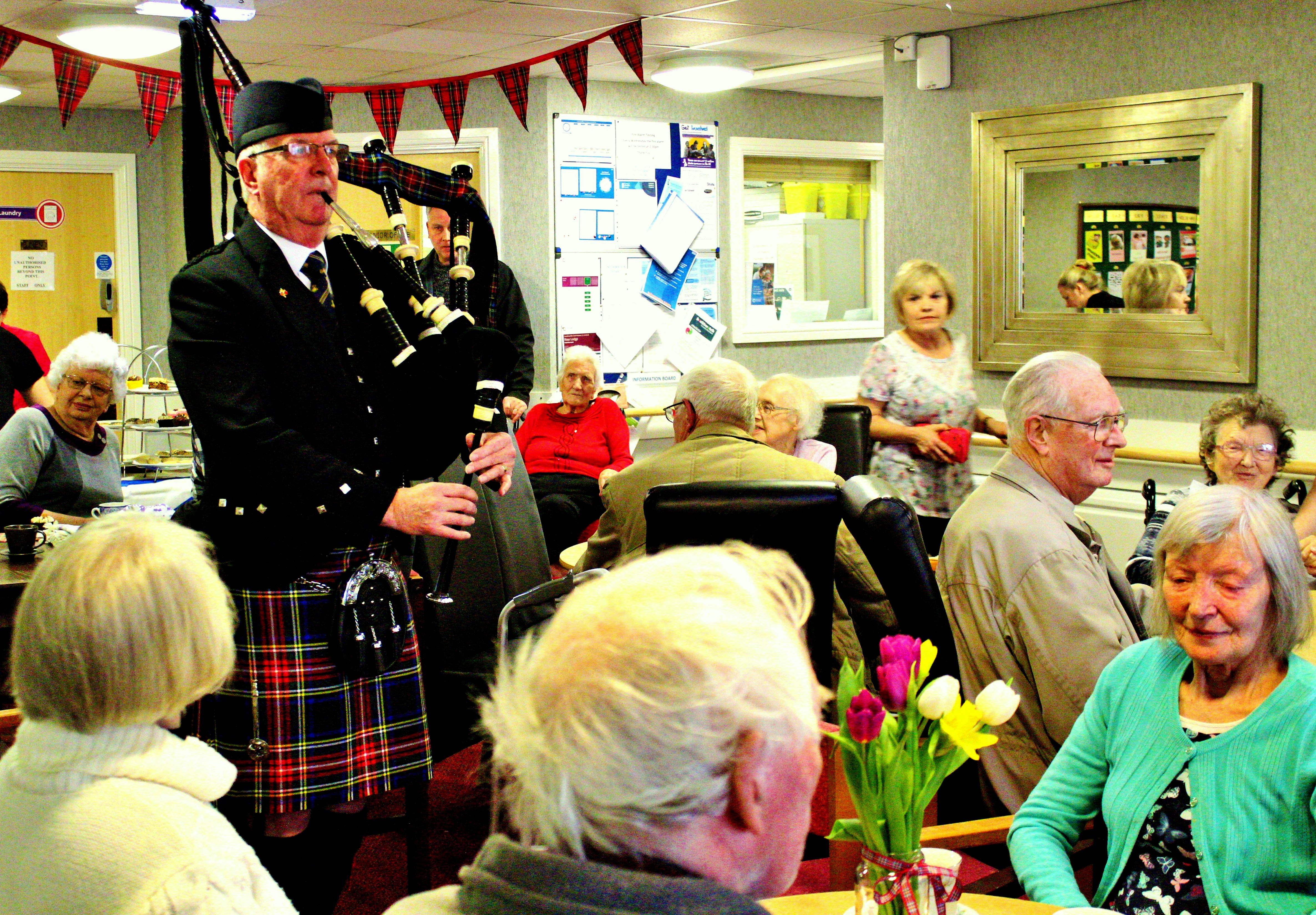 Care Home Hosts Burns' Coffee Morning