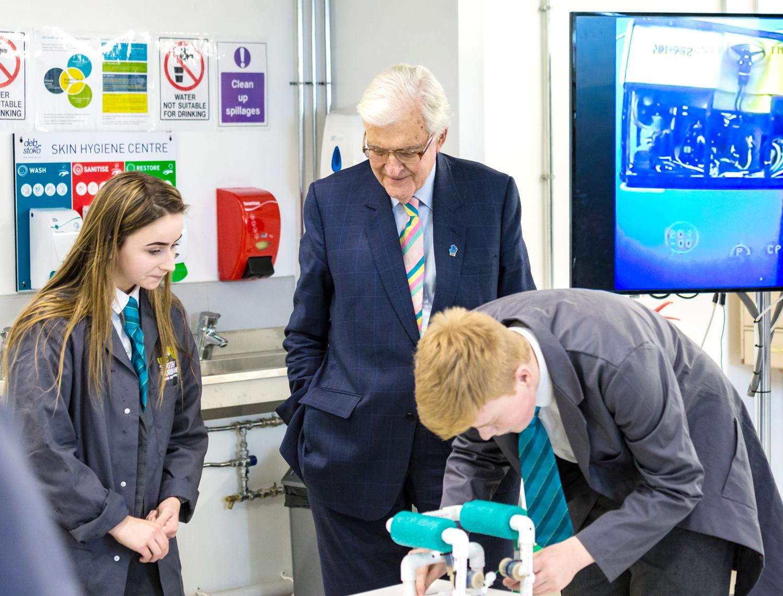 Lord Baker Visits Aycliffe UTC