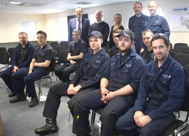 MP Phil Visits Gestamp to Mark Apprenticeship Week