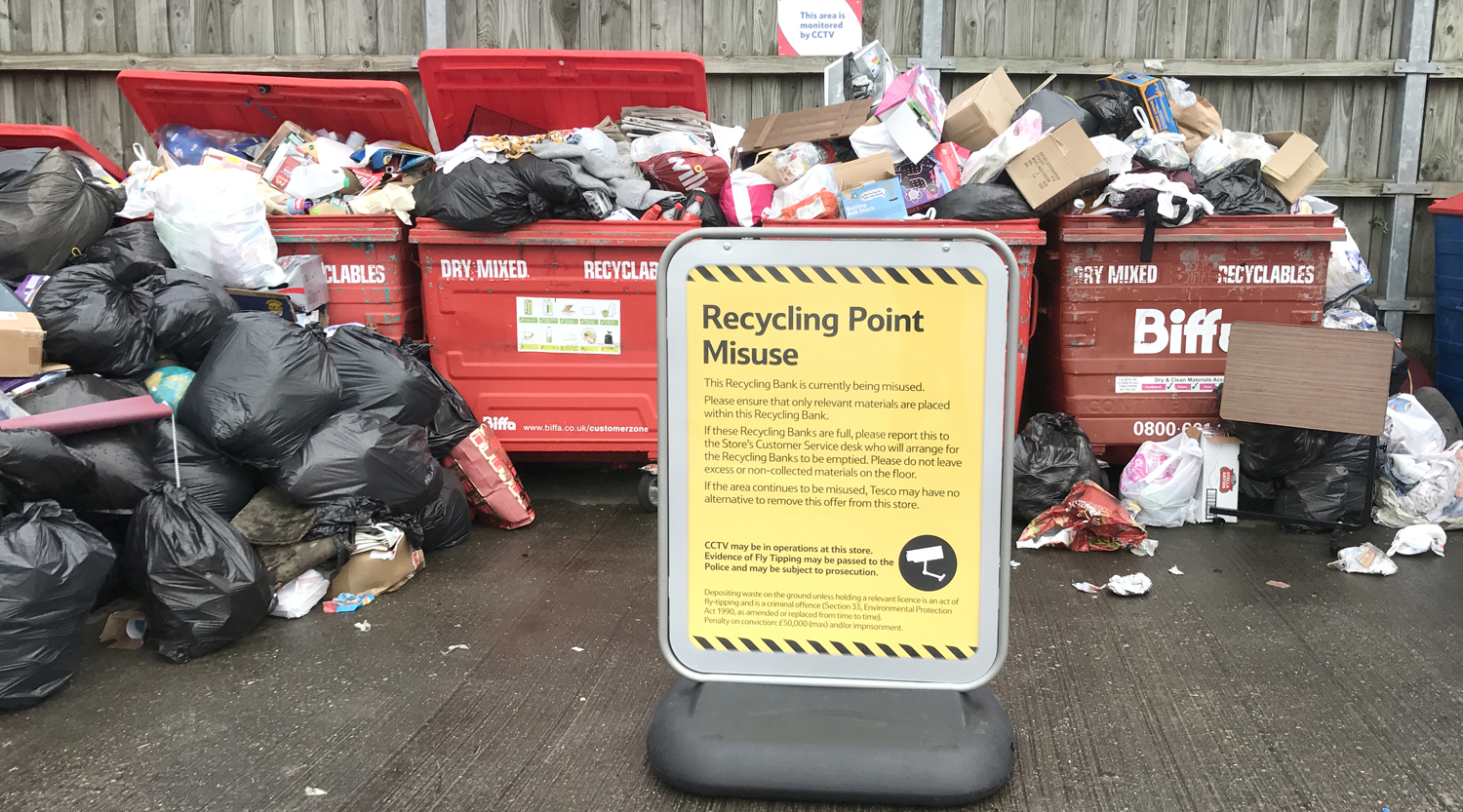 Closure of Tesco Recycling Facilities