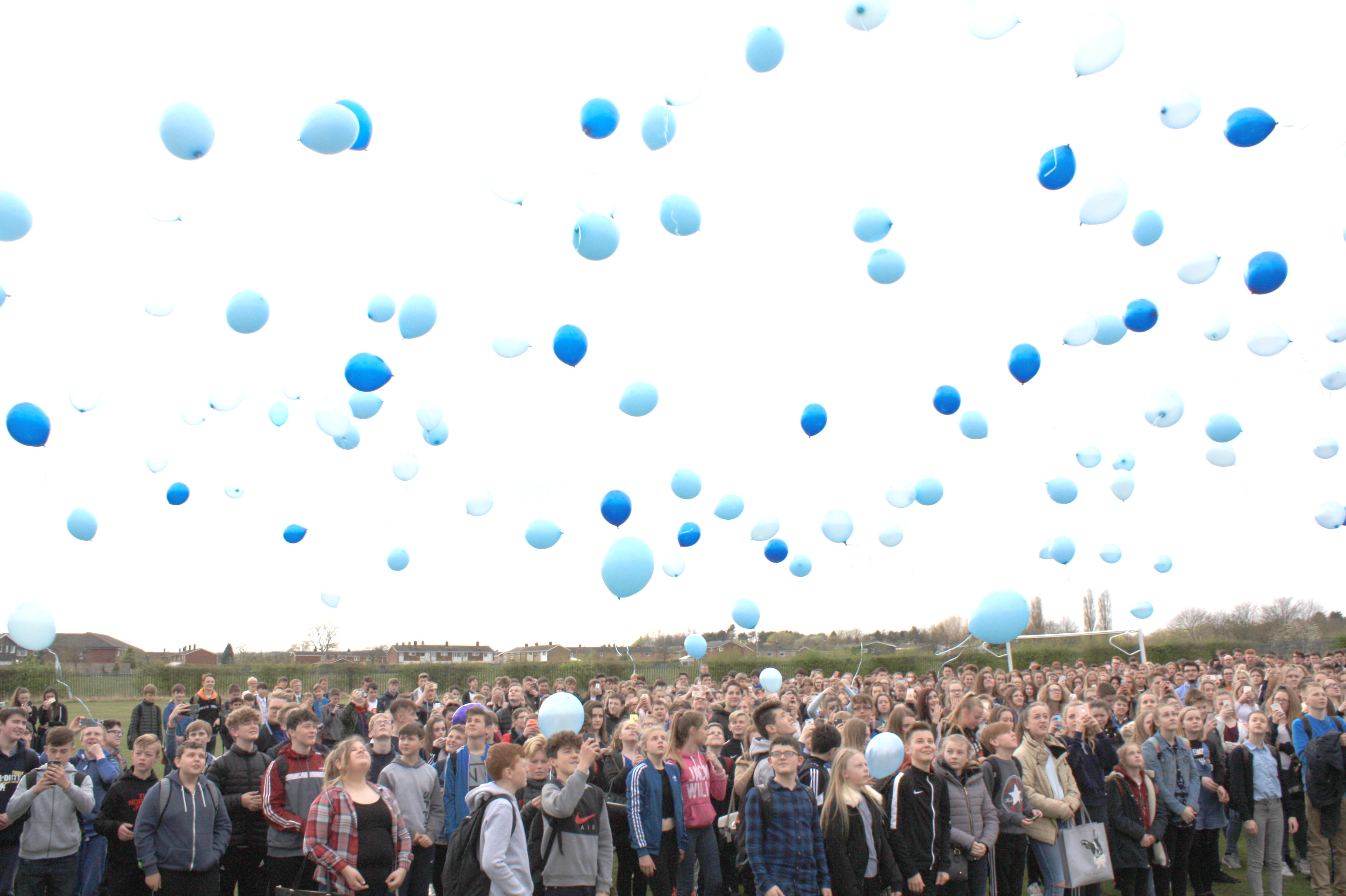 Blue Balloons & Applause for Emily