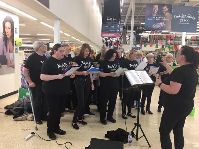 MAD Choir Sing in Tesco's