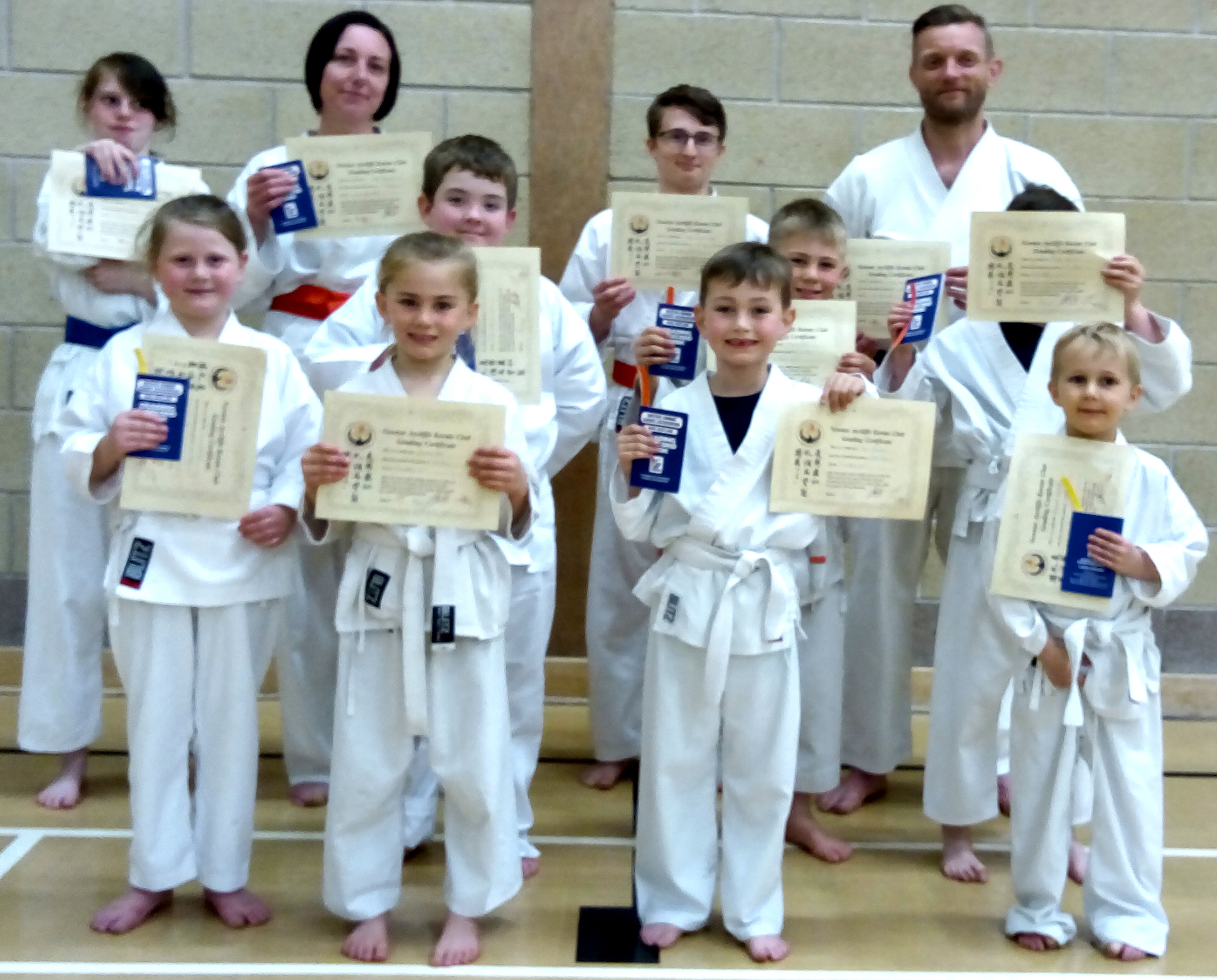 First Gradings at New Aycliffe Dojo