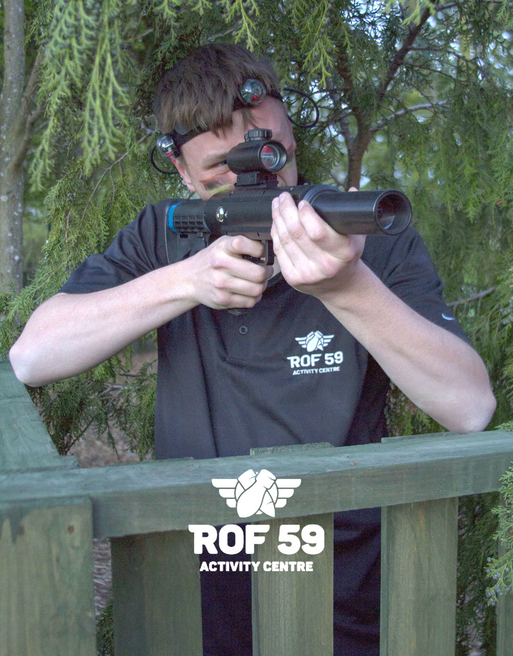 ROF 59 Opens Aycliffe's First Outdoor Laser Combat Game