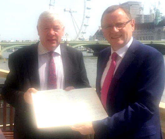 Book of Condolence Delivered to Manchester