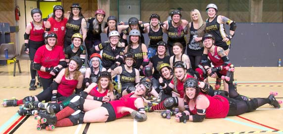 Roller Derby Comes to Aycliffe Leisure Centre