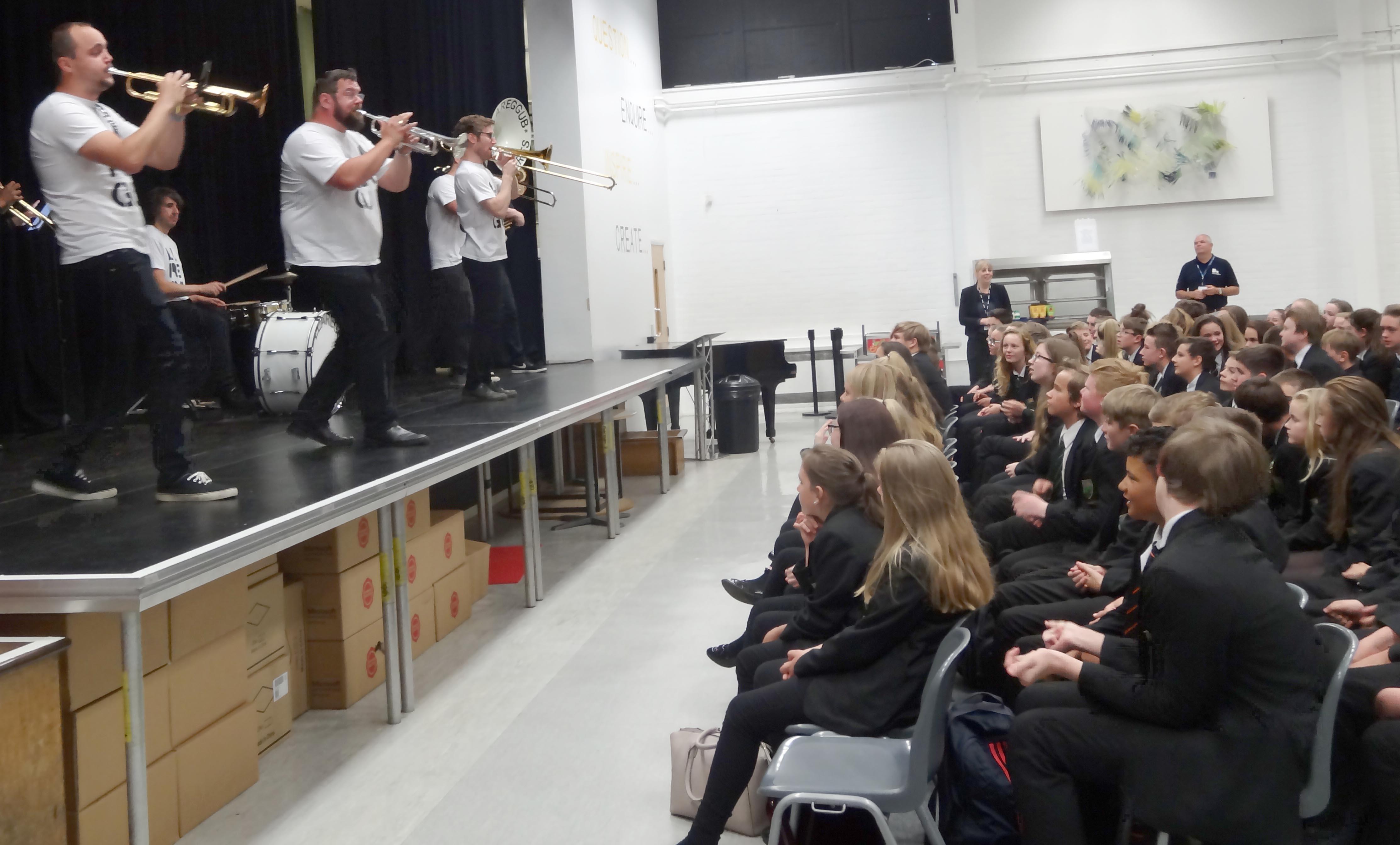 Brass Concert Gets Student & Staff Dancing