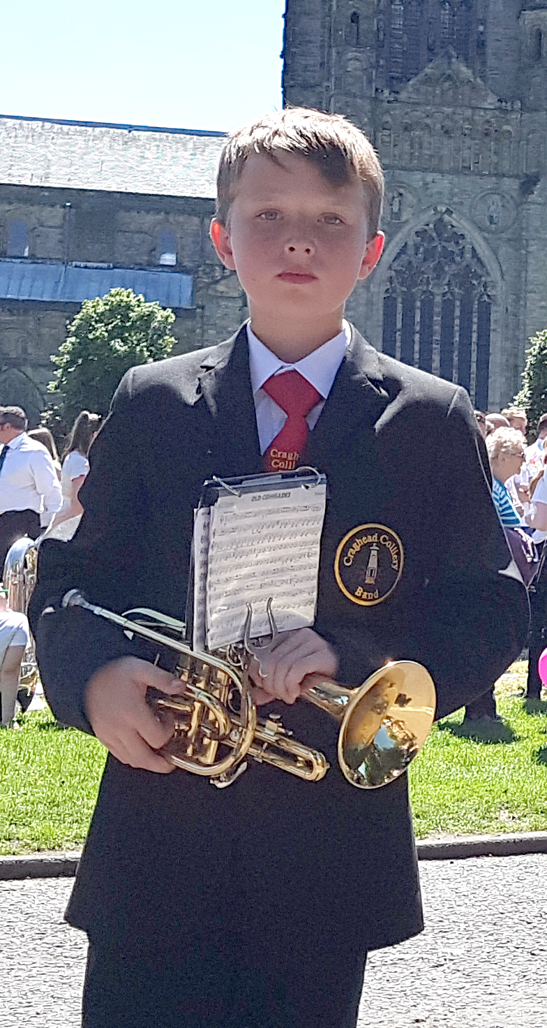 10 Year Old Bandsman's First Miners' Gala March