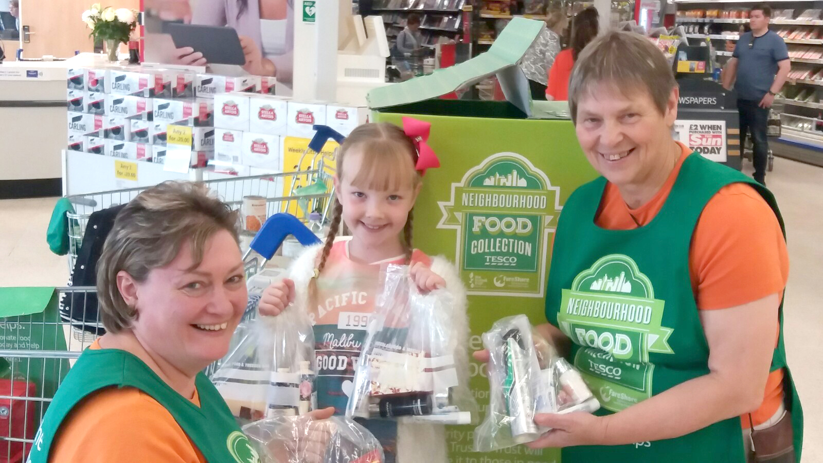Molly and her Mum Donate 40 Toiletries Packs to Foodbank