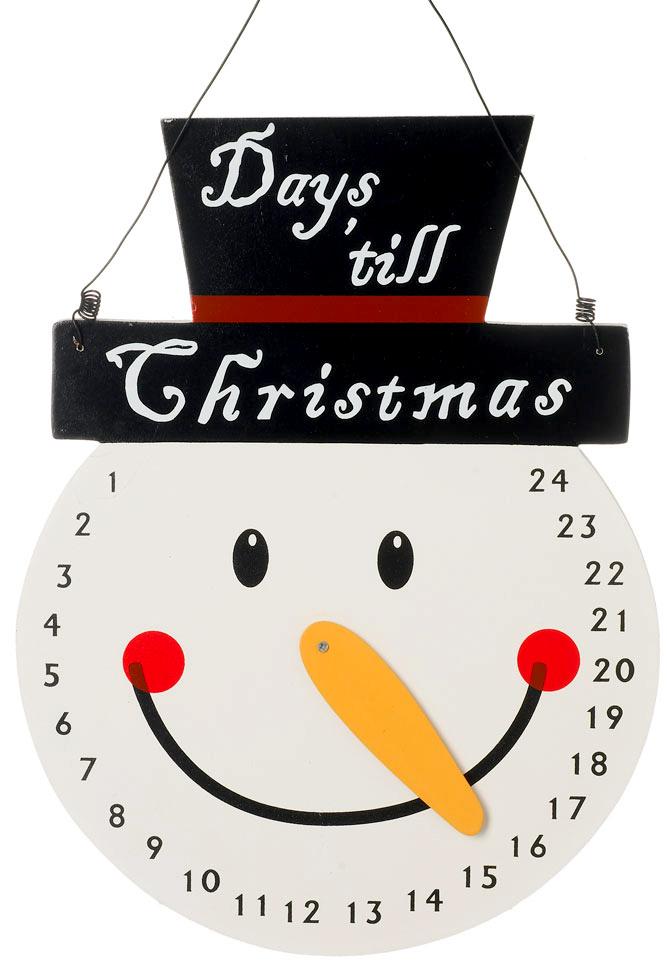 Wooden Snowman Christmas Calendar (002)