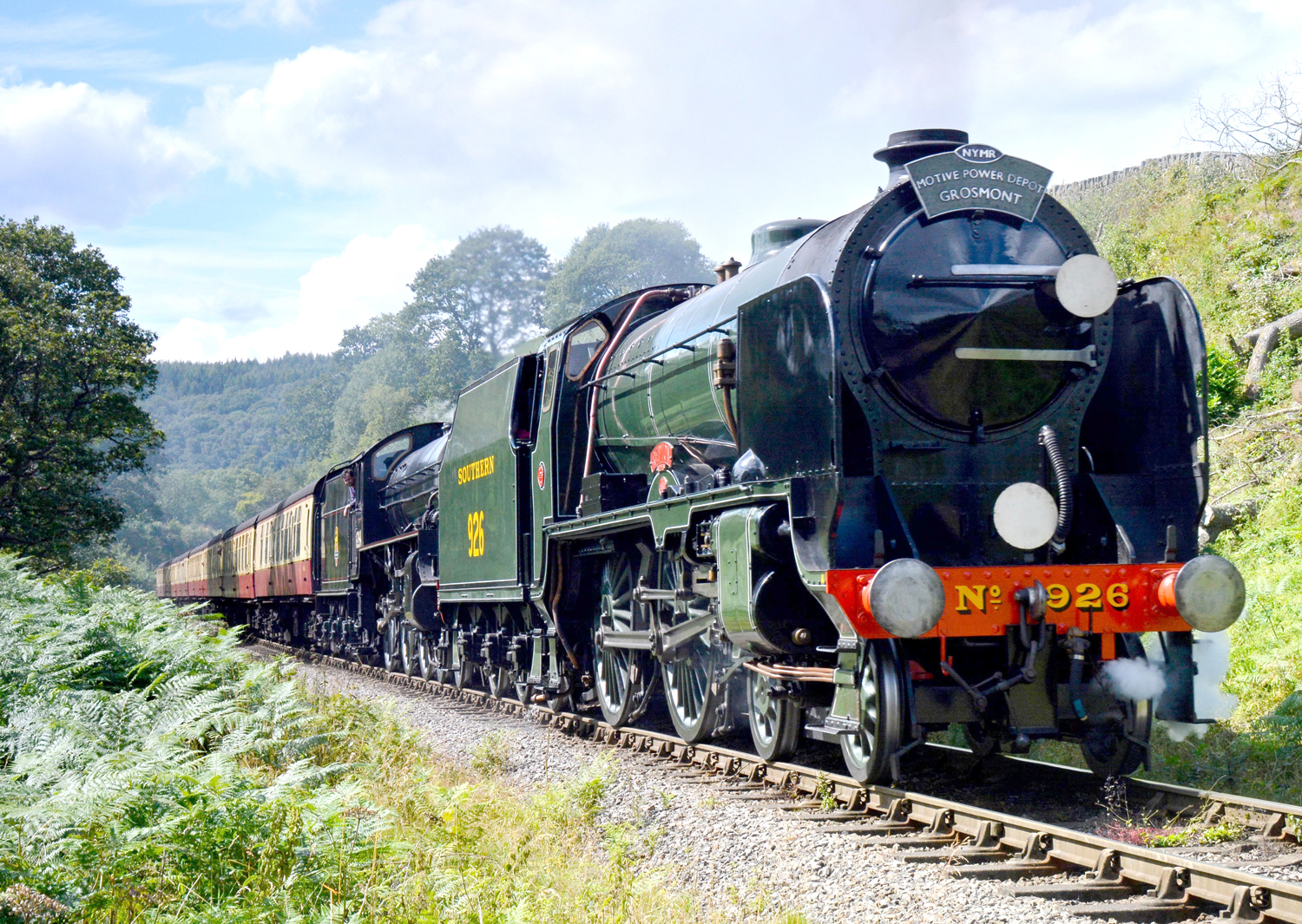 Trip on the Yorkshire Moors by Steam Engine