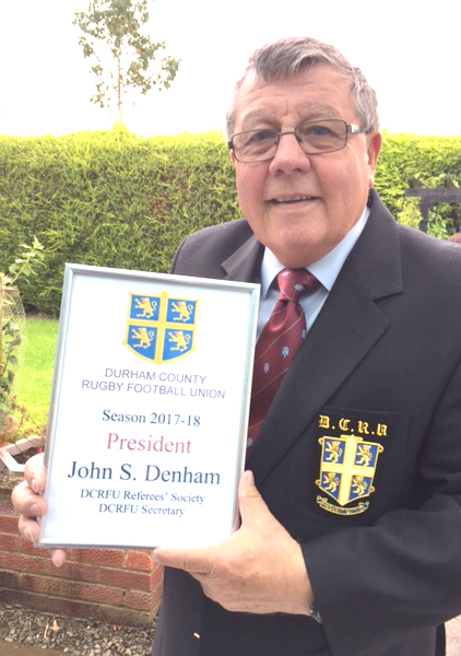 Newtonian President of Durham Rugby Union