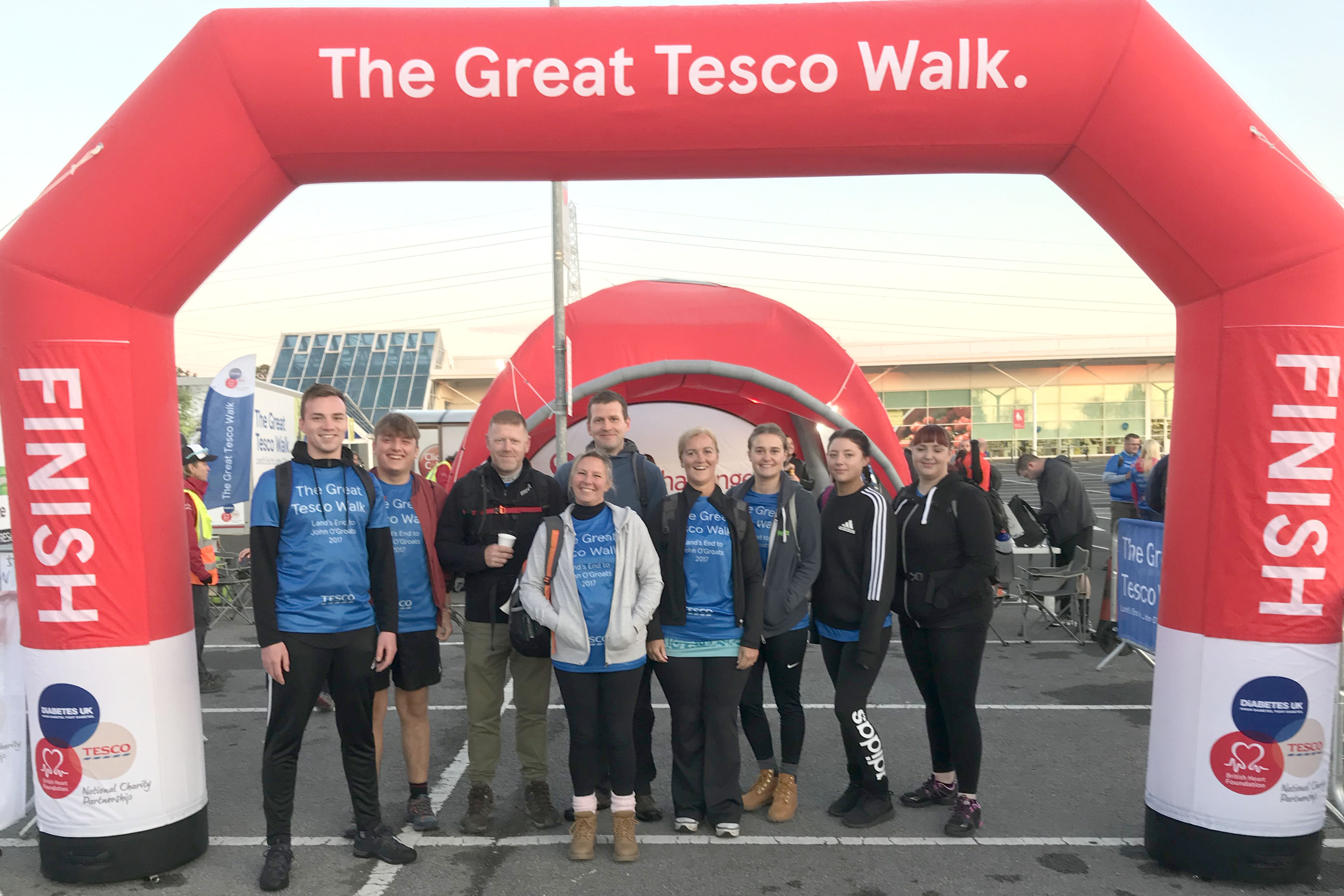 Tesco Staff Walk for Charity