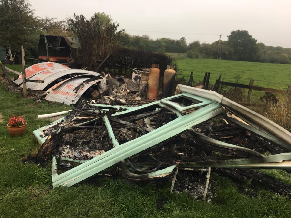 Suspected arson at Cozy Coffee near Brafferton