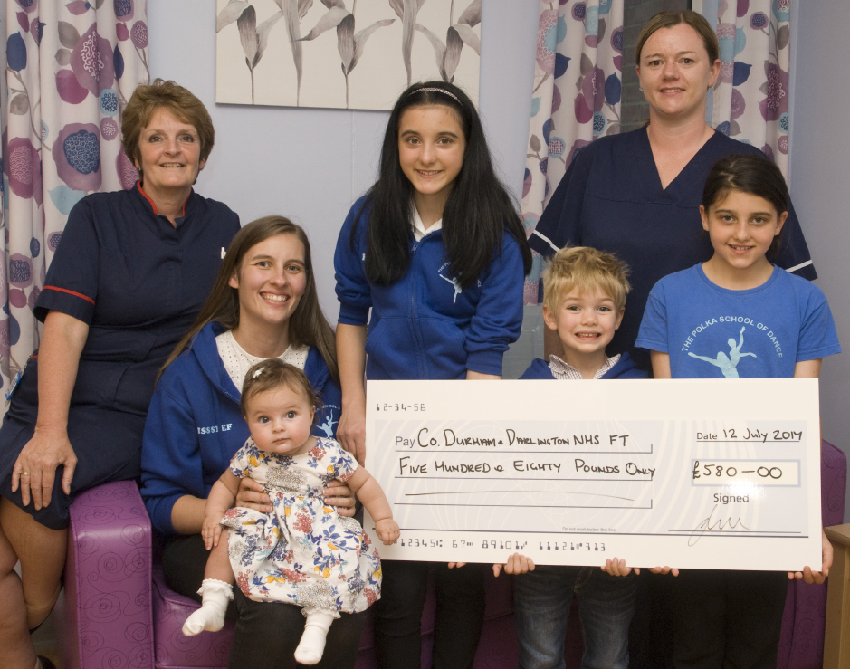 Grateful Mum Raises Cash for Maternity Ward