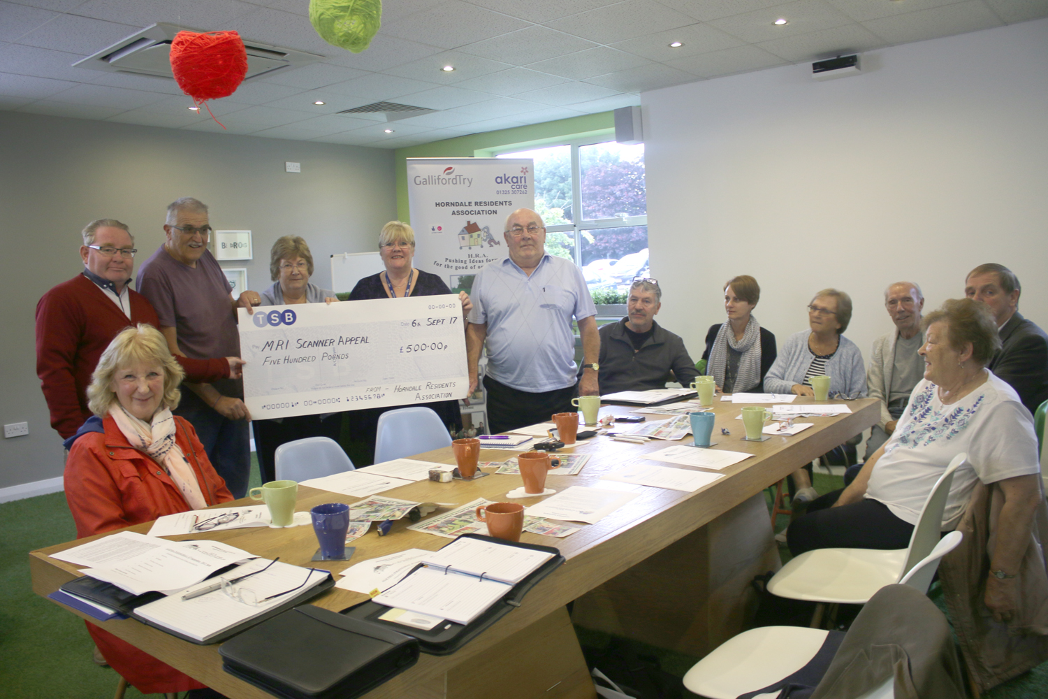 Horndale Donate £500 for MRI Appeal