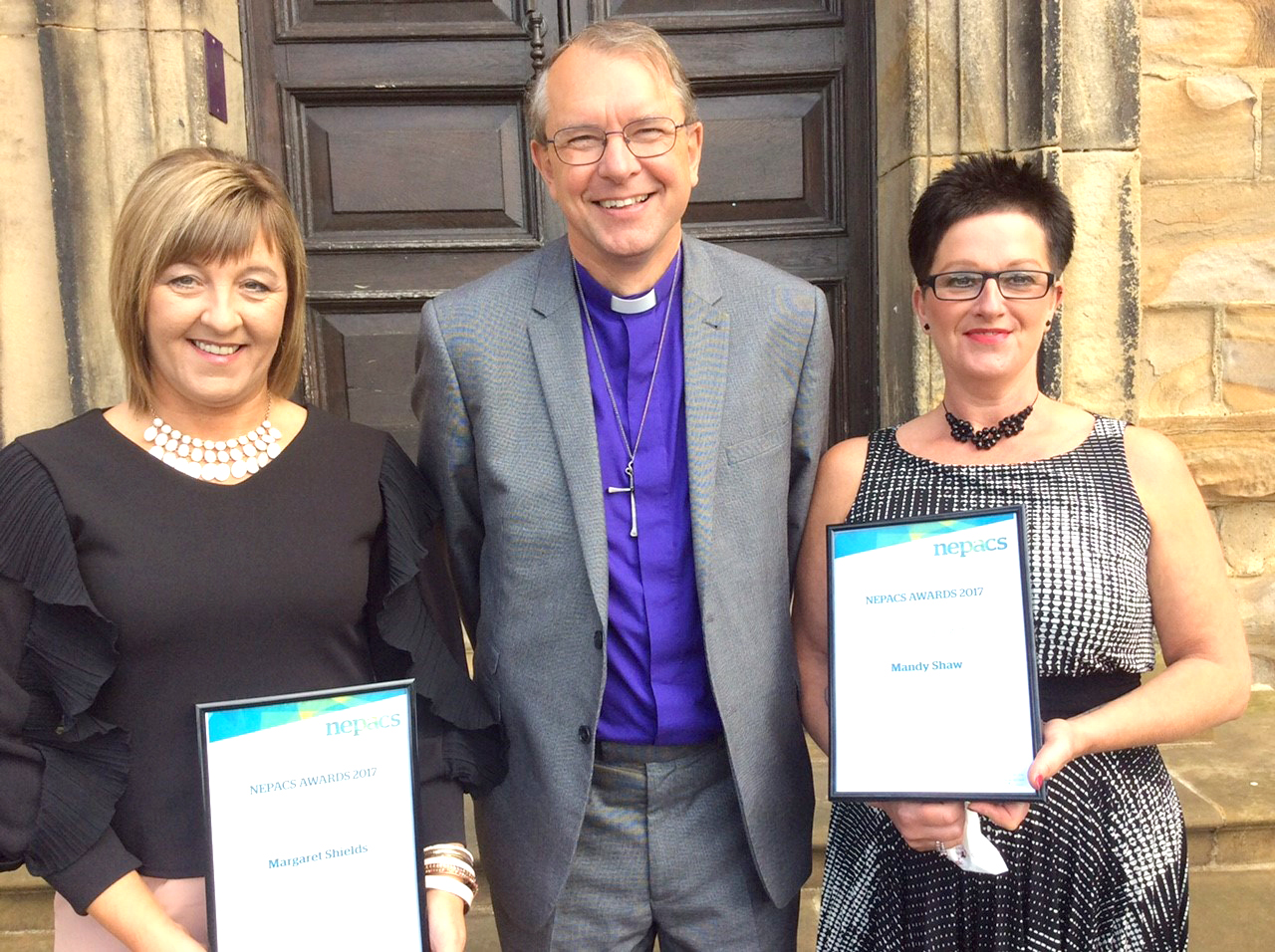"""Aycliffe """"ROCSOLID"""" Ladies Receive Awards from Bishop"""