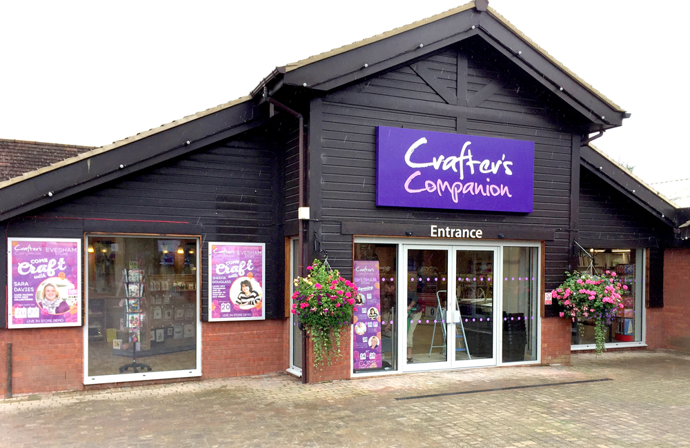 Crafter's Companion Open Third Store in Evesham