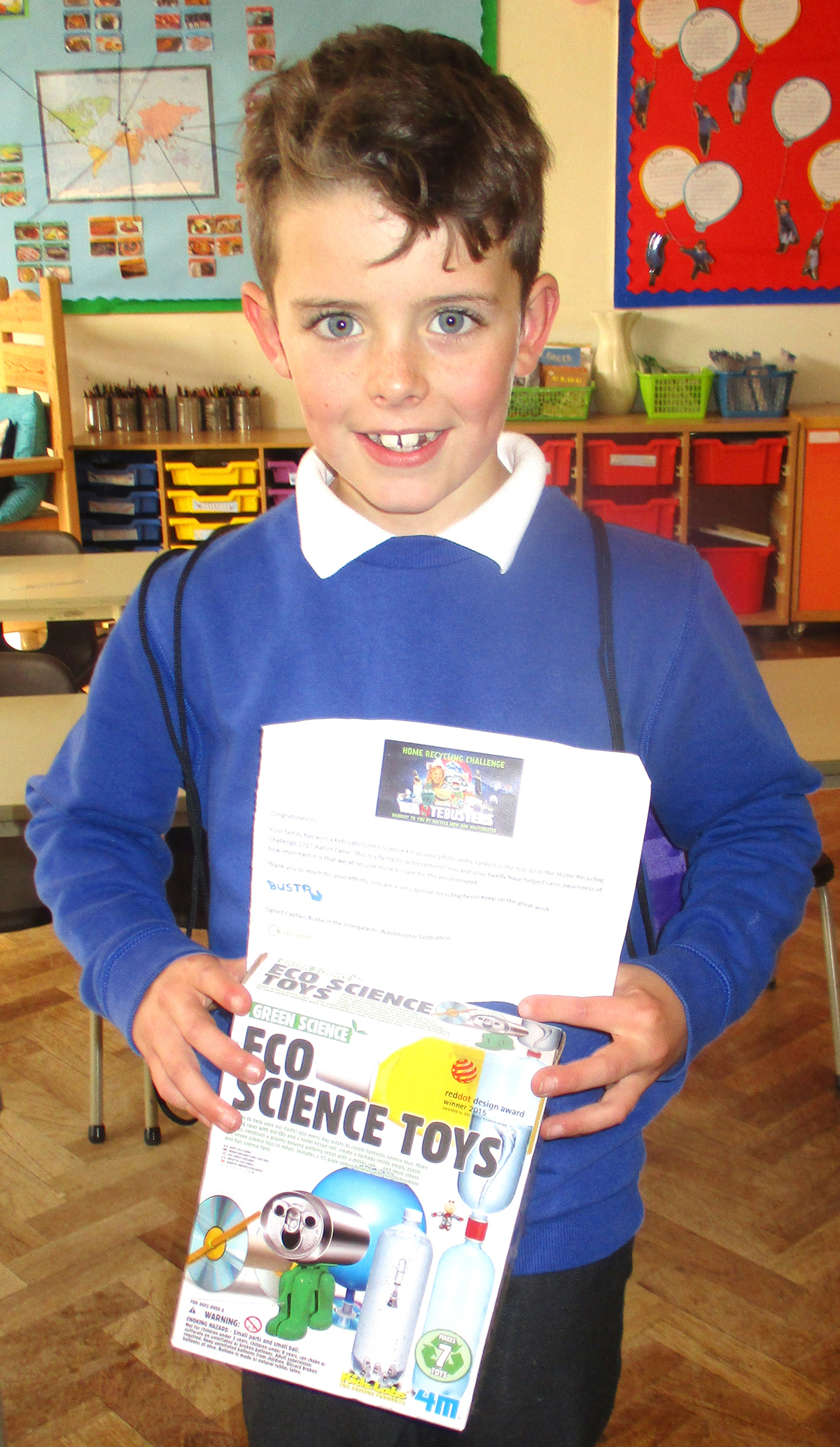 Harry Wins Prize in Recycling Challenge