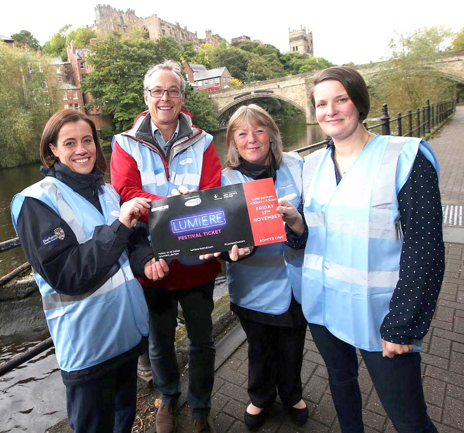 Volunteer and Help Light up Durham's Lumiere