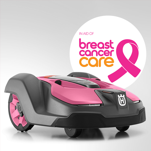 HUSQVARNA AUCTION FIRST PINK AUTOMOWER® TO RAISE MONEY FOR BREAST CANCER CARE