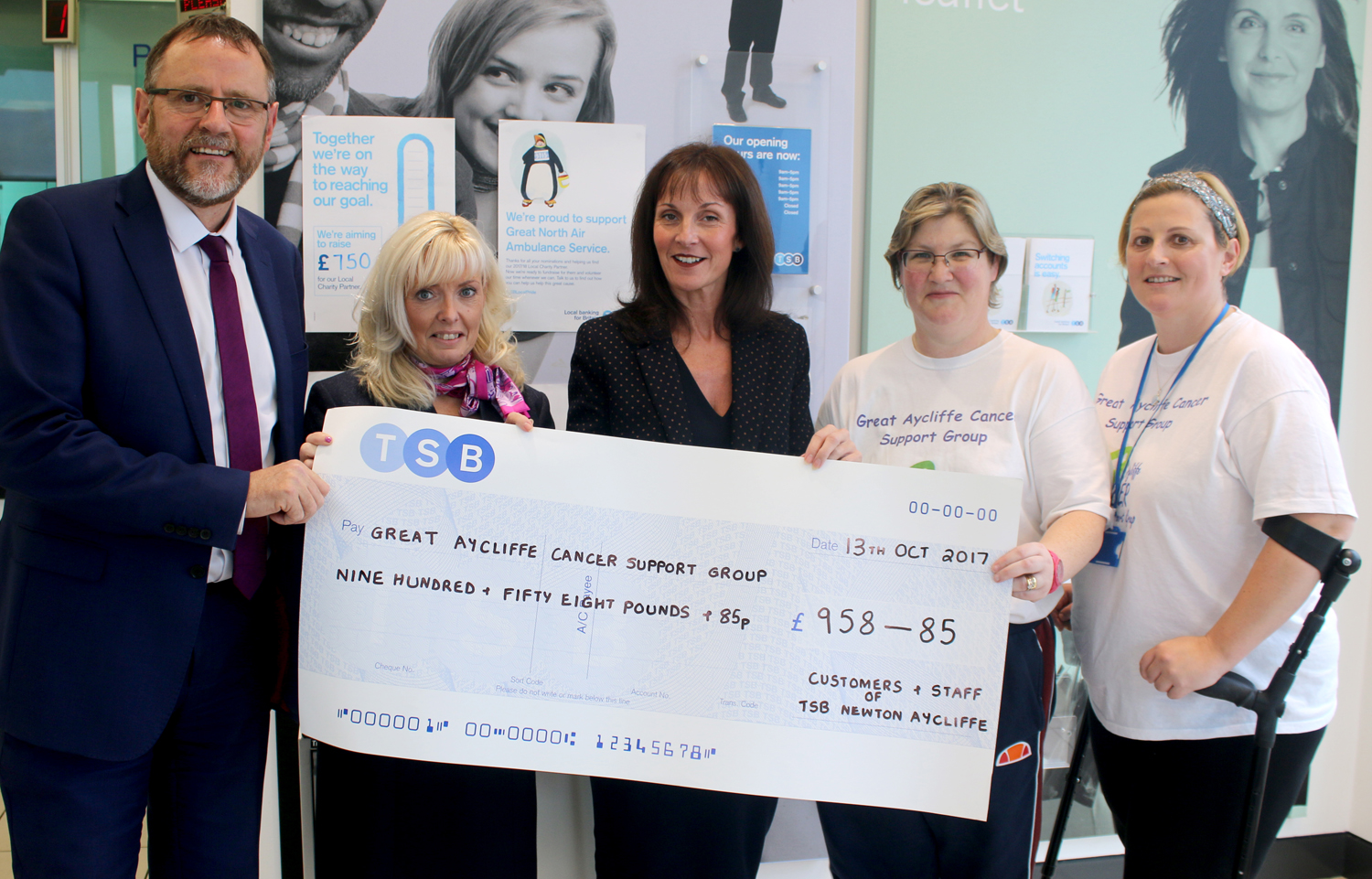 TSB Staff & Customers Support Local Charity & Air Ambulance
