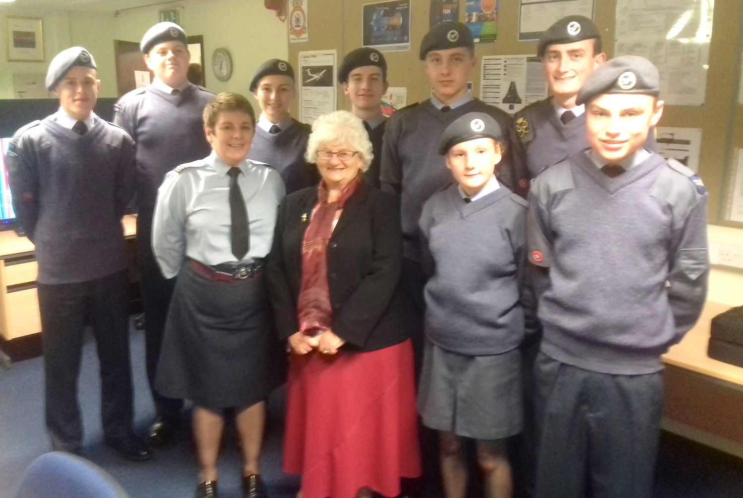 Town Air Cadets Receive ICT Equipment